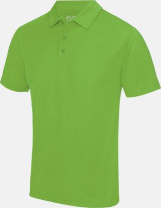 Limegrön Färgglada pikétröjor med reklamtryck