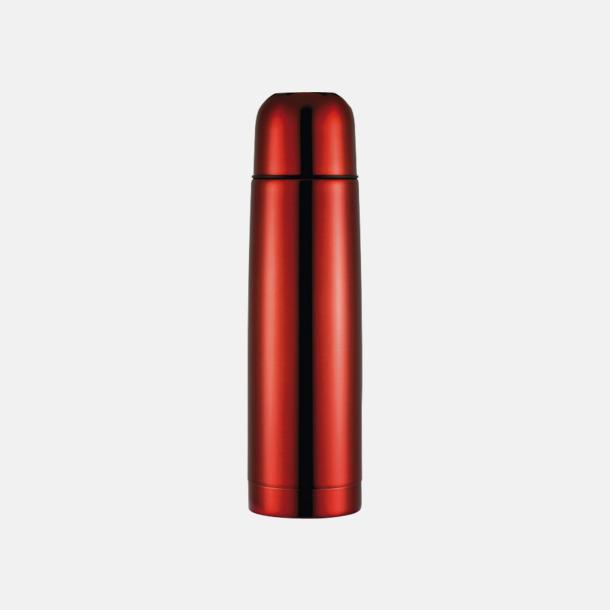 Mörkröd Färgglada termosar med tryck