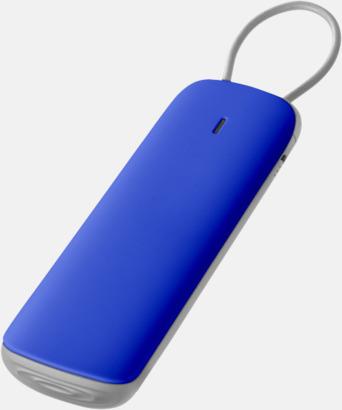 Blå Exklusiva nödbatterier med reklamtryck