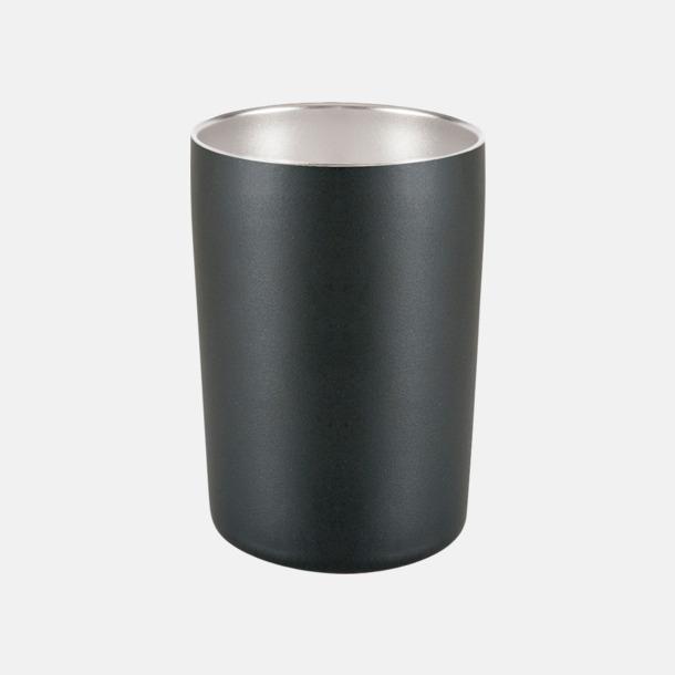 Mattsvart (0,32 liter) Termosmuggar i två storlekar med reklamtryck