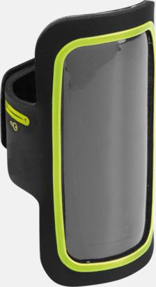 Svart/Lime Armband som passar iPhones och Galaxy smartphones med reklamtryck