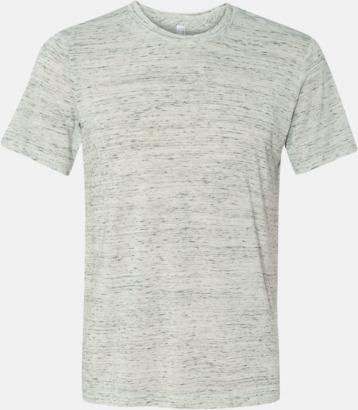 Marble White (heather) Unisex t-shirts i spräckliga färger med reklamtryck