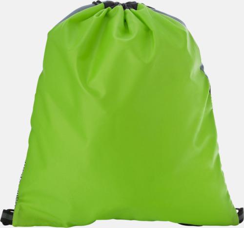 Limegrön (baksida) Gympapåse med nätficka - med reklamtryck