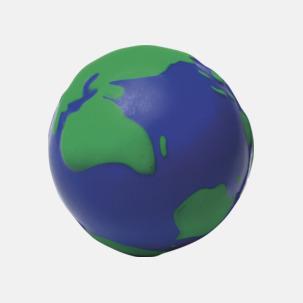Stressbollar med världsmotiv - med reklamtryck