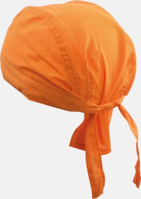 Orange (hatt) Bandanas i två varianter med reklambrodyr