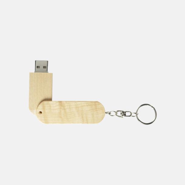 Lönnfärgad bambu Eko twist USB-minne i bambu med reklamtryck