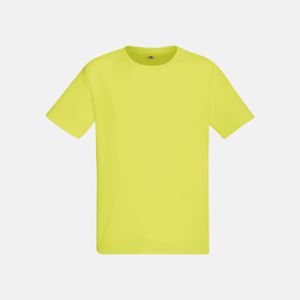 Bright Yellow (herr) Funktionströjor för herr, dam och barn - med reklamtryck