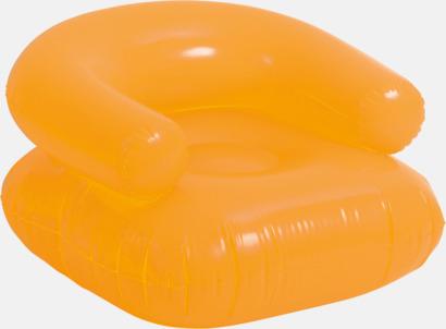 Orange Uppblåsbara solstolar för vuxna med reklamtryck
