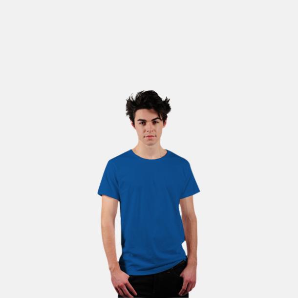 Azure Blue Eko t-shirts i Fairtrade-bomull med reklamtryck