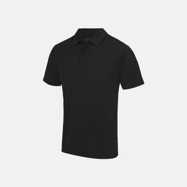 Jet Black Färgglada pikétröjor med reklamtryck
