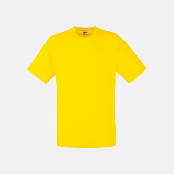 Yellow Valueweight t-shirt med tryck
