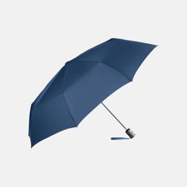 Marinblå eko-kompaktparaplyer med reklamtryck
