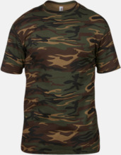 T-shirts med militörmönster - med reklamtryck
