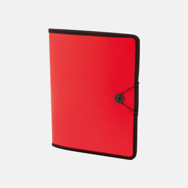 Röd Konferensmappar i färgad plast - med reklamtryck