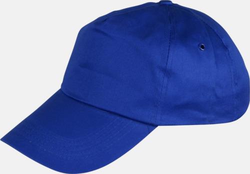 Blå Billiga bomullskepsar med reklamtryck
