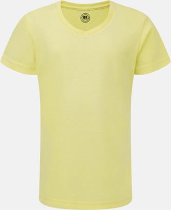 Yellow Marl (v-neck flicka) Barn t-shirts i u- och v-hals med reklamtryck