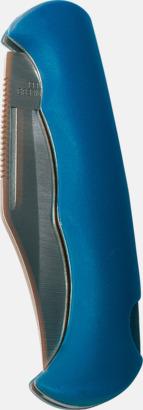 Blå Rejäla fickknivar med lasergravyr