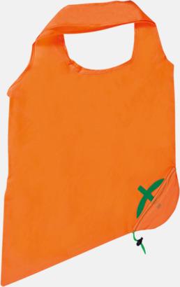 Orange (apelsin) Fruktformade nylonkassar med reklamtryck