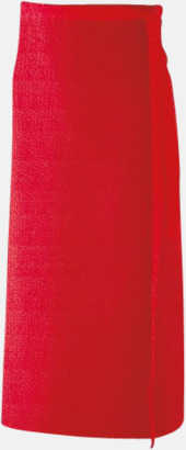 Röd (100 x 80 cm) Förkläden i 5 varianter med reklamtryck