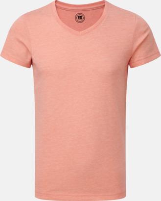 Coral Marl (v-neck pojke) Barn t-shirts i u- och v-hals med reklamtryck