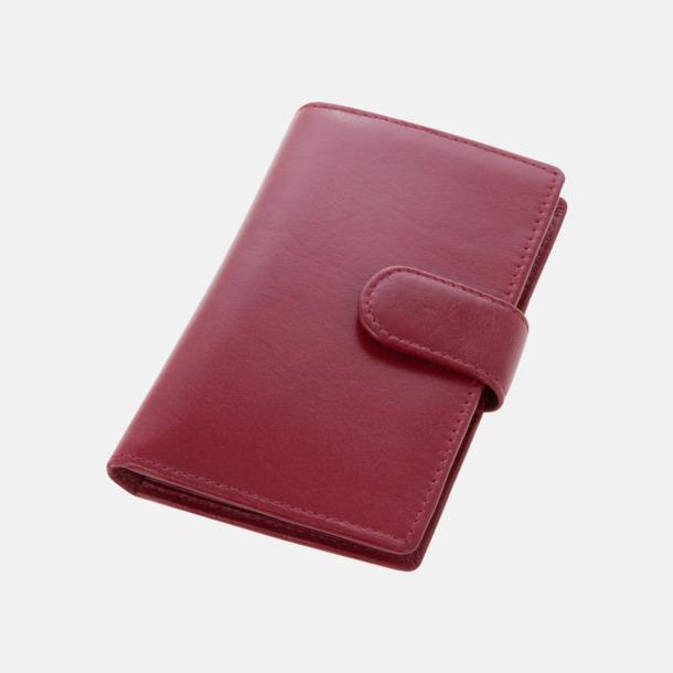 Vinröd Visit- och kreditkortshållare med reklamtryck