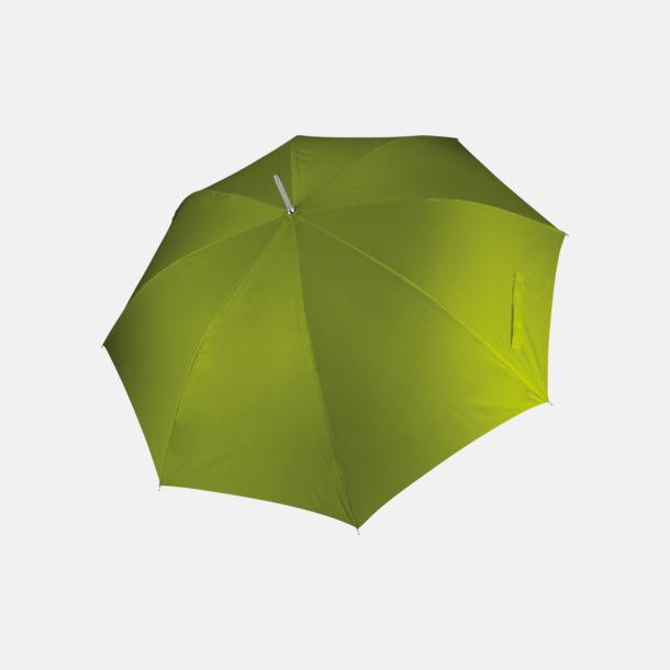 Burnt Lime Tvåfärgade golfparaplyer med reklamtryck