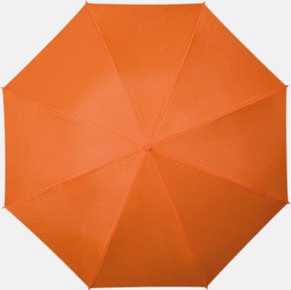 Orange Färgstarka och eleganta paraplyer med reklamtryck