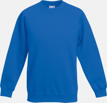 Royal BLue Tjocktröjor för barn med eget tryck