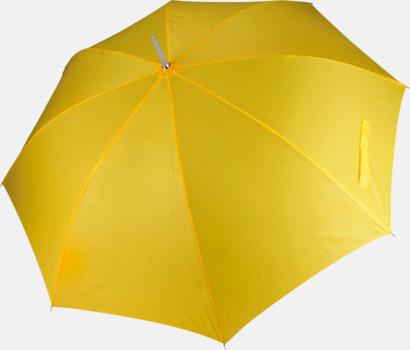True Yellow Tvåfärgade golfparaplyer med reklamtryck