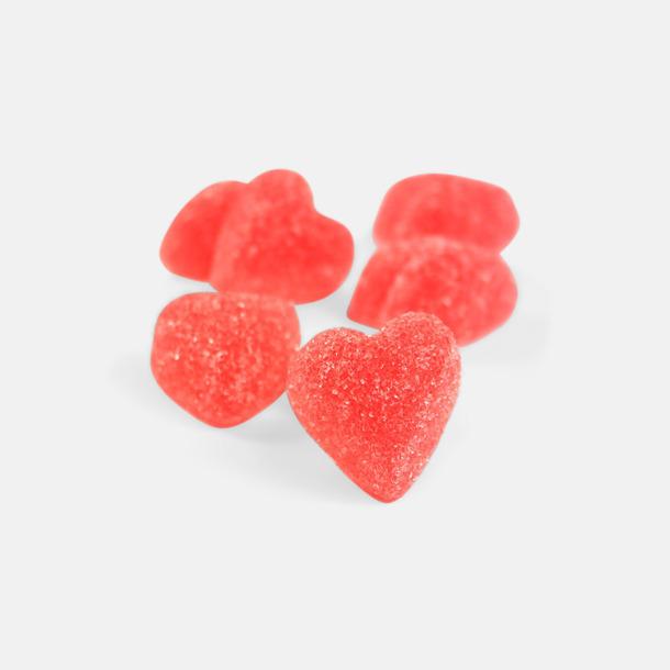 Röda geléhjärtan med egen hälsning