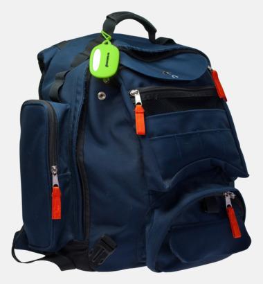 Färgglad bagagetag med tryck
