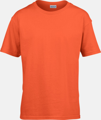 Orange Billiga t-shirts med reklamtryck
