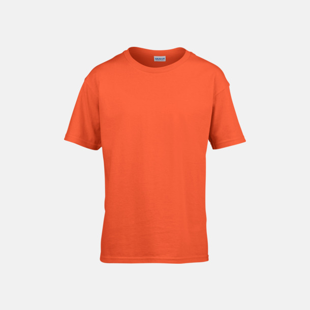 Orange Billiga barn t-shirts med reklamtryck