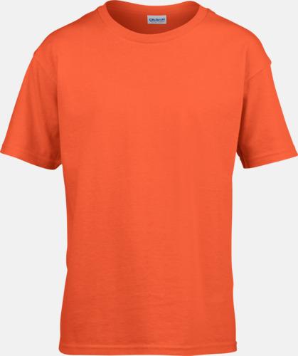 Orange Billiga t-shirts med reklamtryck