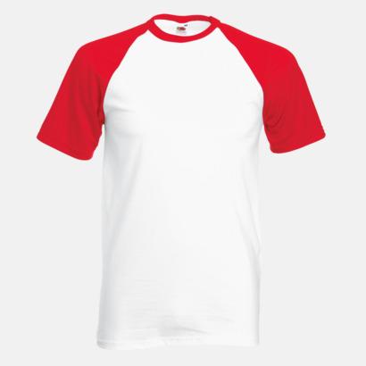 Vit/Röd T-shirtar med reklamtryck