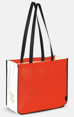 Röd Stor kasse av i återvunnet non woven-material med reklamtryck