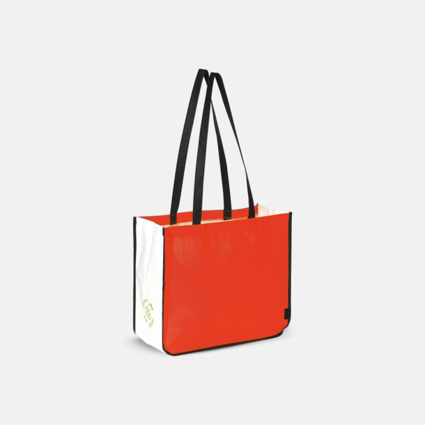 Röd Stor kasse av non woven-material med reklamtryck