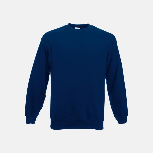 Marinblå Klassisk sweatshirt med reklamtryck