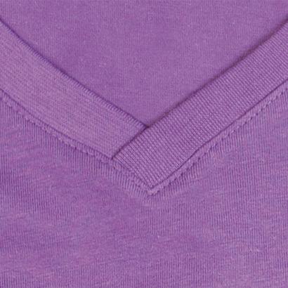 Lavender Purple (v-neck detalj) Ekologiska t-shirts i flera modeller och många färger - med reklamtryck