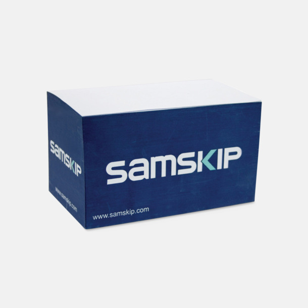 Papperskub med form som en container med reklamtryck