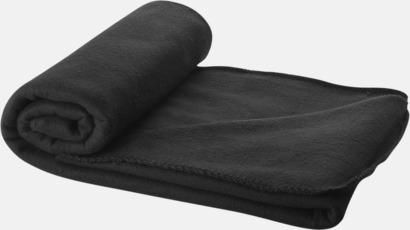 Svart Fleecefilt och bag - med tryck