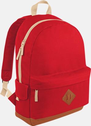 Classic Red Retroryggsäckar med reklamtryck eller -brodyr