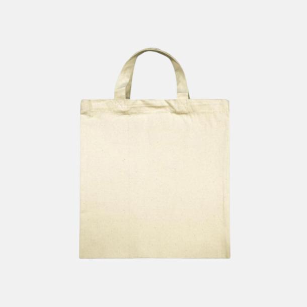 Korta handtag ÖKO-tex kassar med långa eller korta handtag med reklamtryck