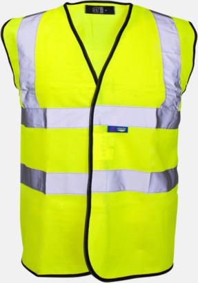 Hi-Vis Yellow Färgglada säkerhetsvästar med reklamtryck