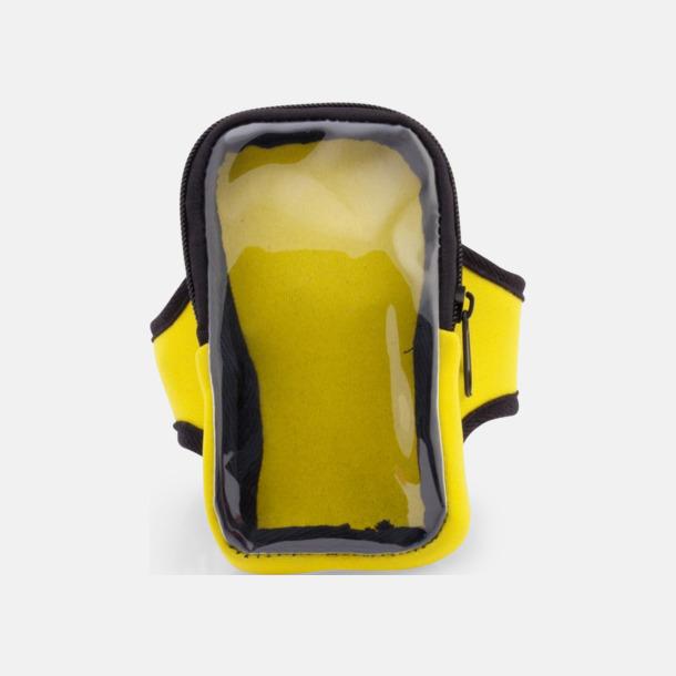 Gul Joggingarmband av softshell för mobiltelefonen med reklamtryck