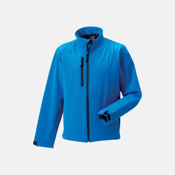 Azure Blue Softshelljackor i hermodell med reklamtryck