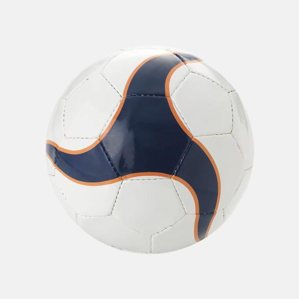 Marinblå/Orange (2) Designade fotbollar med reklamtryck