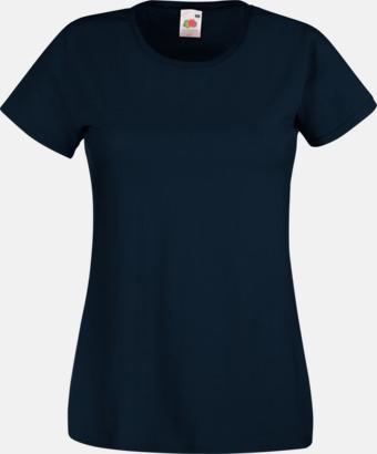 Deep Navy Figursydd damt-shirt med reklamtryck