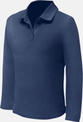 Deep Navy (endast herr) Långärmade pikétröjor till lägre priser med reklamtryck