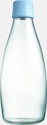 Baby Blue Större glasflaskor med reklamtryck